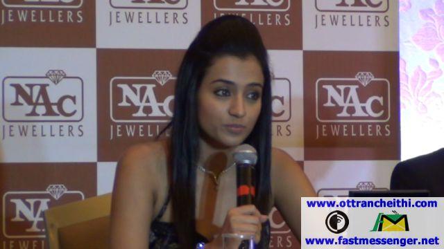 NAC Jewellers Ambassador Trisha