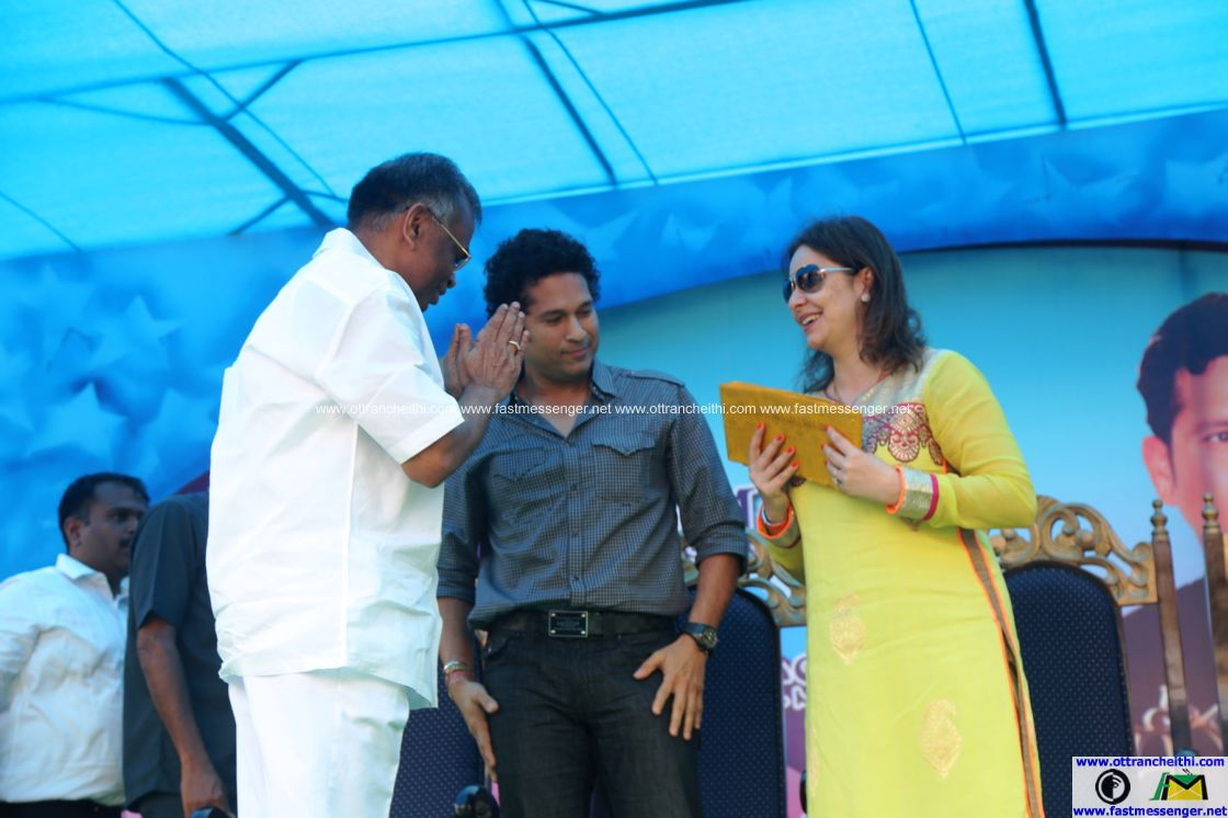 Sachin at Velammal  (1)