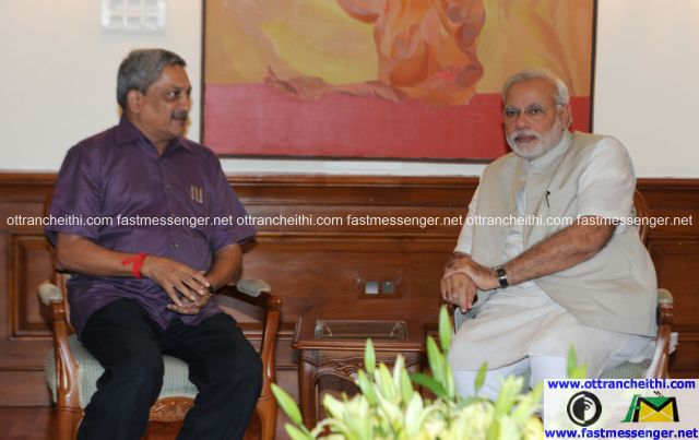 Goa CM Meets PM - 10june14