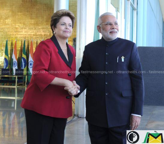 Narendra Modi - Dilma Rousseff