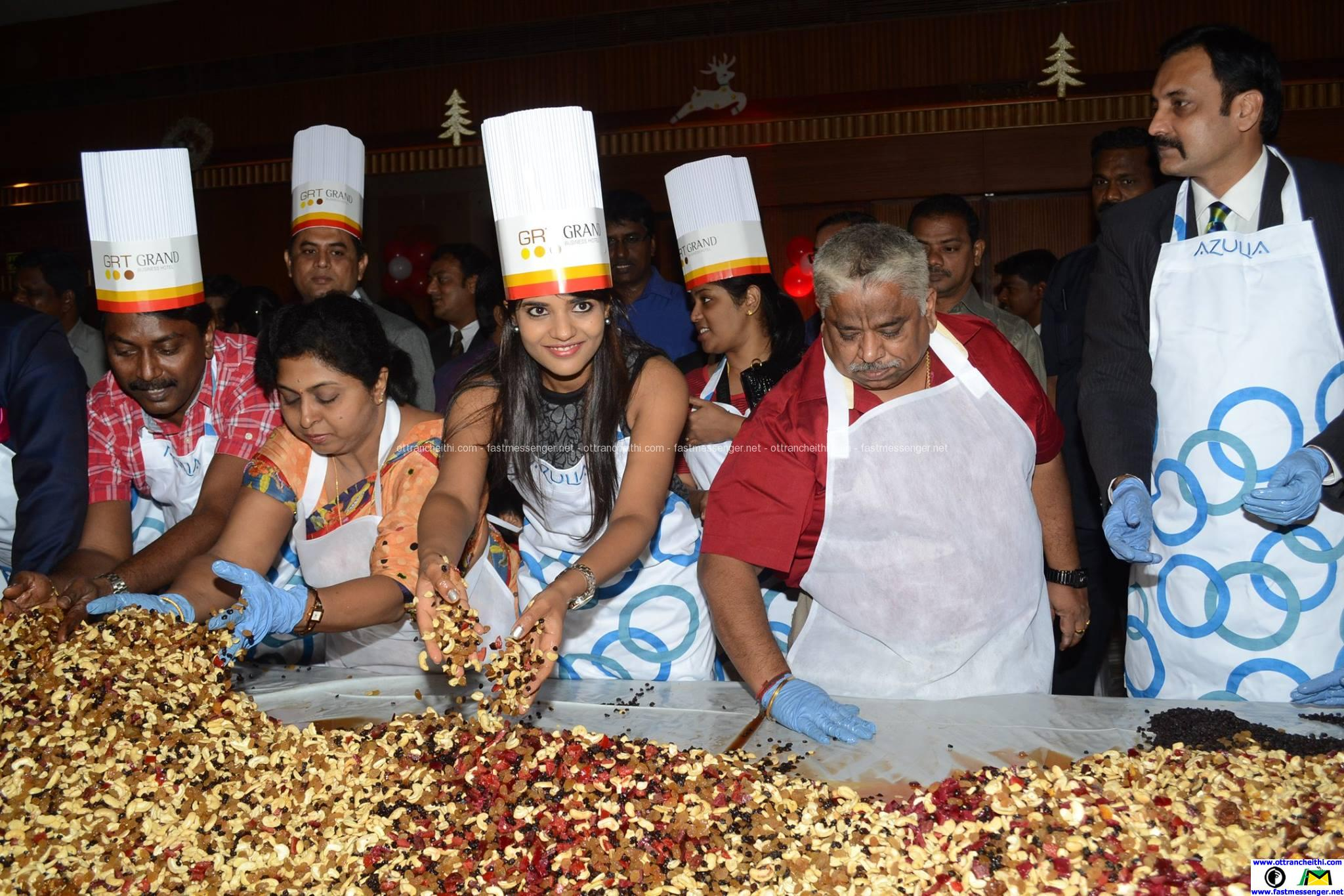GRT Grand Cake Mixing by actress Aishwarya