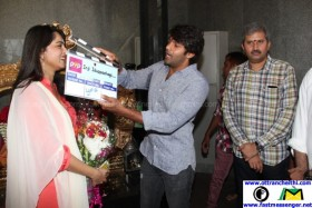 Inji Iduppazhagi Movie Launch Poojai