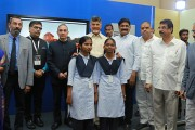 Chandrababu Naidu at Samsung Partners Unesco launching VR Content & 360